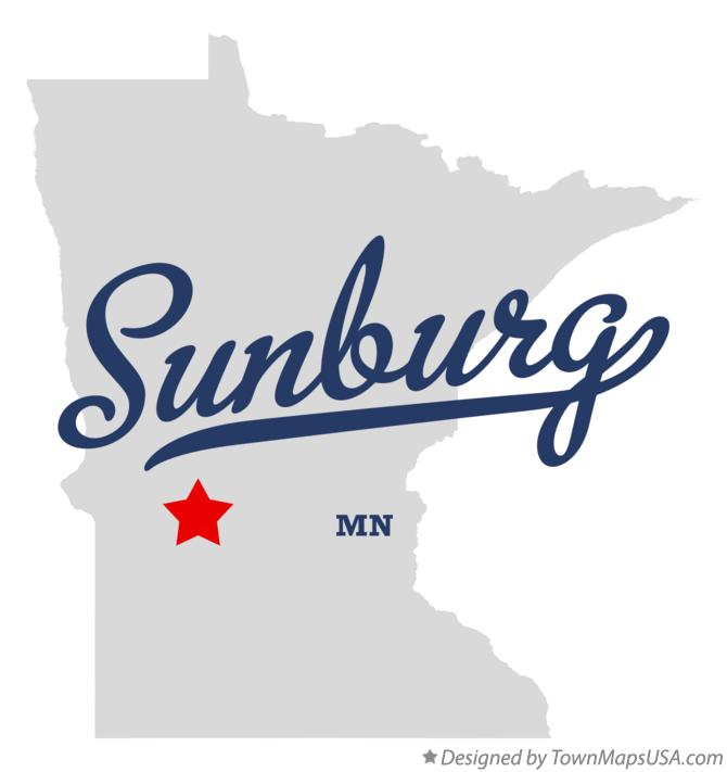 Map of Sunburg Minnesota MN