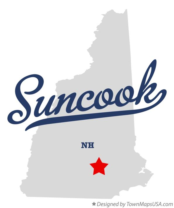 Map of Suncook New Hampshire NH