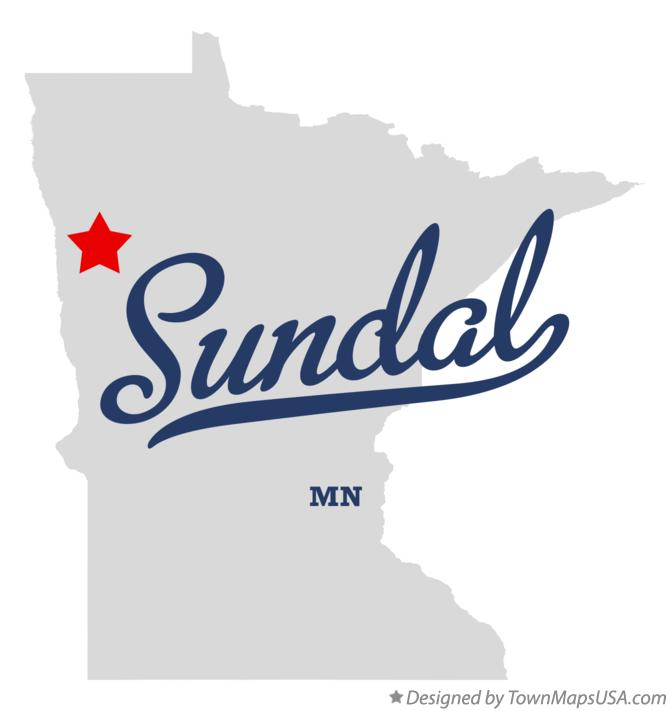 Map of Sundal Minnesota MN