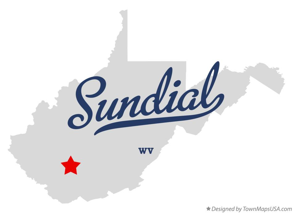 Map of Sundial West Virginia WV