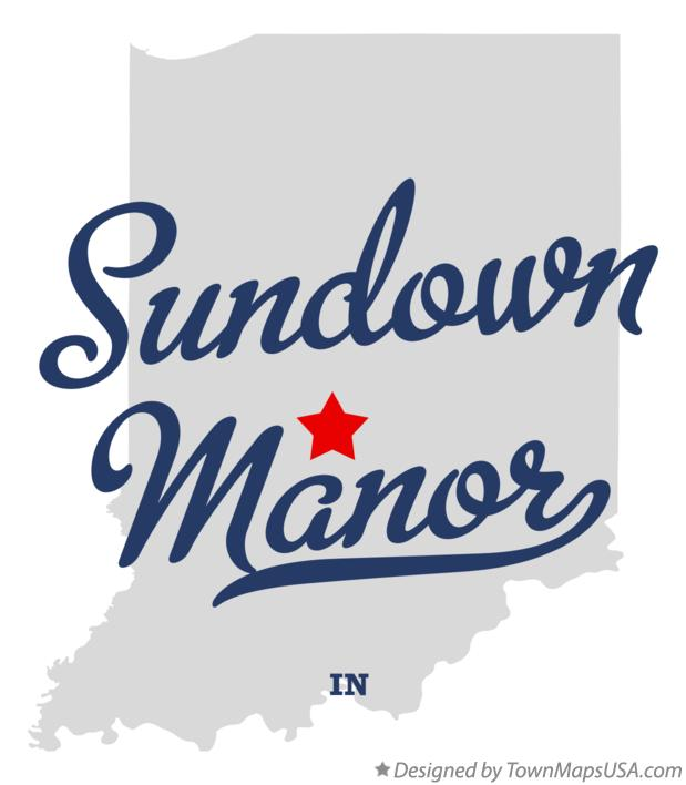 Map of Sundown Manor Indiana IN