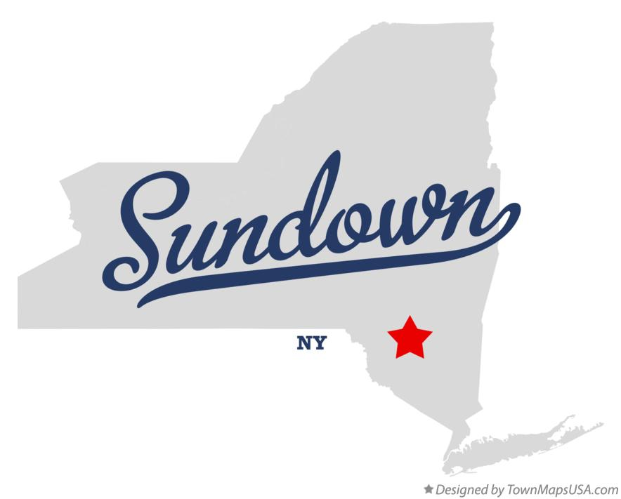 Map of Sundown New York NY