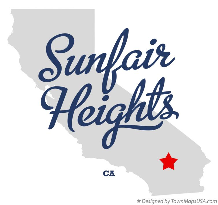 Map of Sunfair Heights California CA