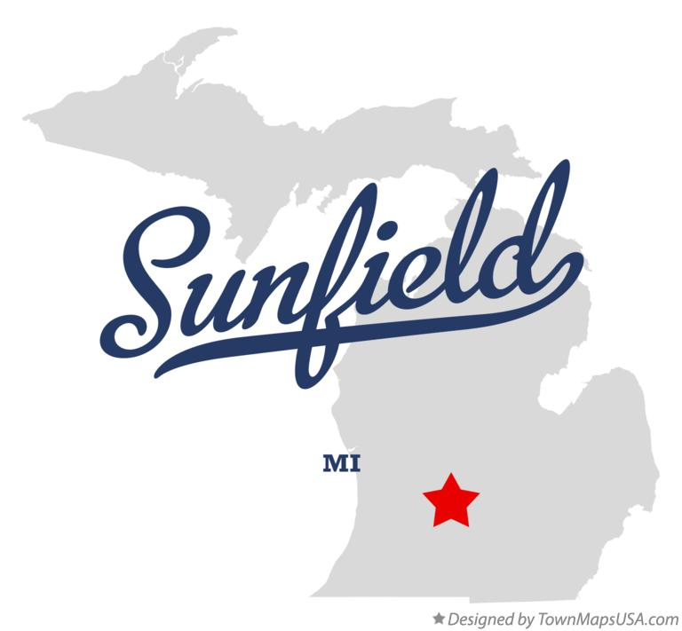Map of Sunfield Michigan MI