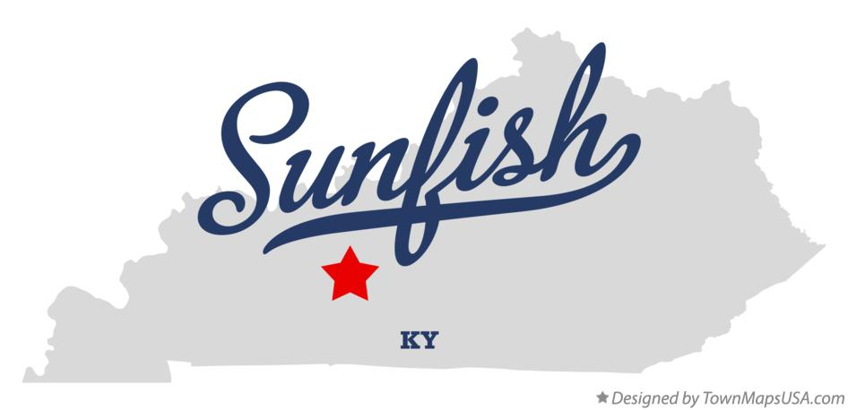 Map of Sunfish Kentucky KY
