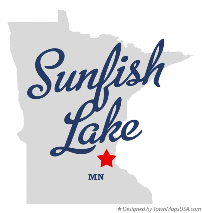 Map of Sunfish Lake Minnesota MN