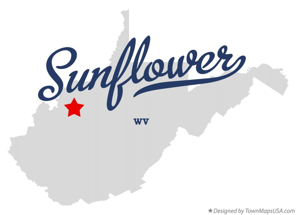 Map of Sunflower West Virginia WV
