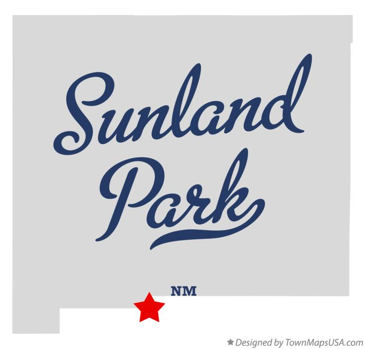 Map of Sunland Park New Mexico NM