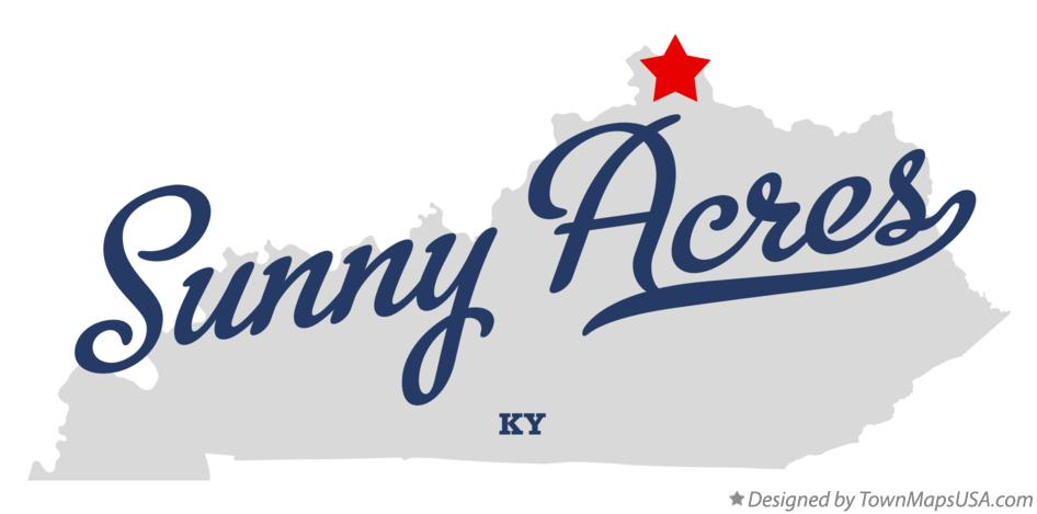 Map of Sunny Acres Kentucky KY