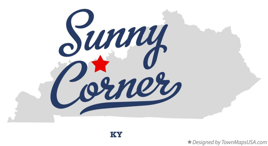 Map of Sunny Corner Kentucky KY