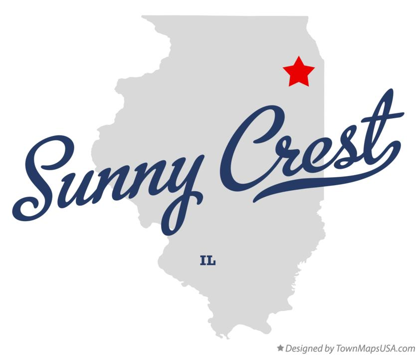 Map of Sunny Crest Illinois IL