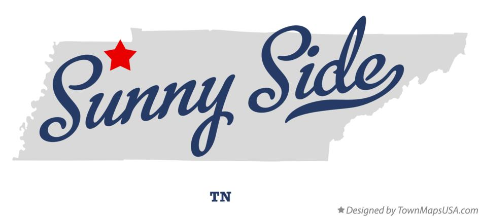Map of Sunny Side Tennessee TN