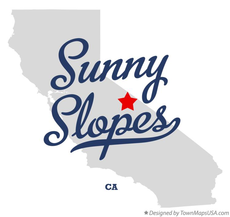 Map of Sunny Slopes California CA