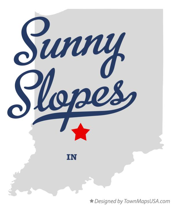 Map of Sunny Slopes Indiana IN