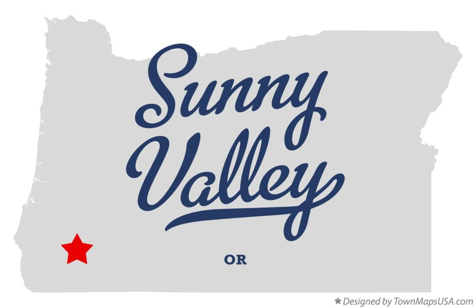 Map of Sunny Valley Oregon OR
