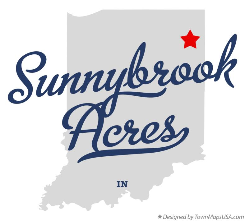 Map of Sunnybrook Acres Indiana IN