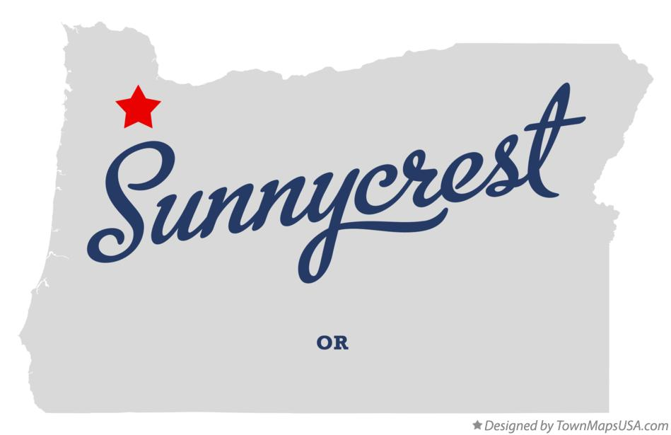 Map of Sunnycrest Oregon OR