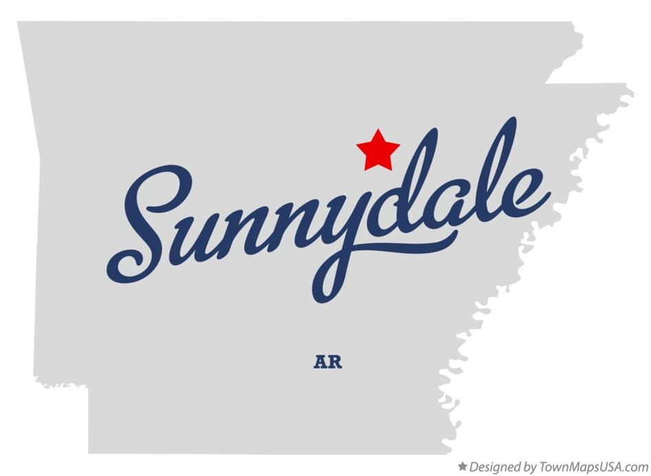 Map of Sunnydale Arkansas AR