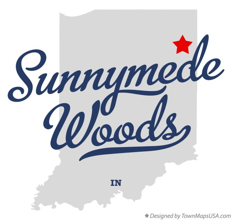 Map of Sunnymede Woods Indiana IN