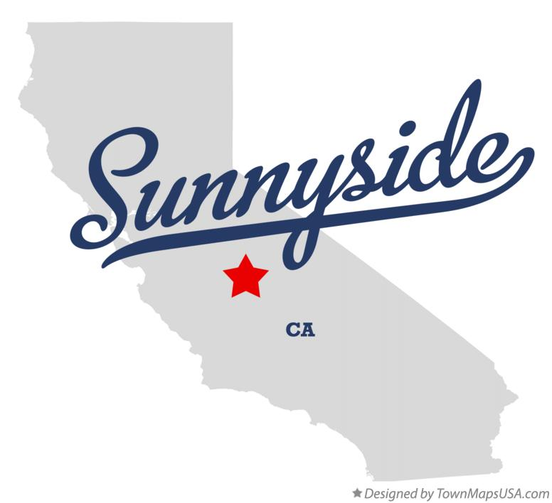 Map of Sunnyside California CA