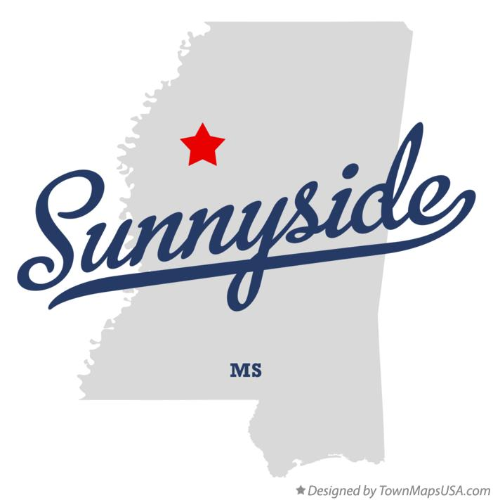 Map of Sunnyside Mississippi MS