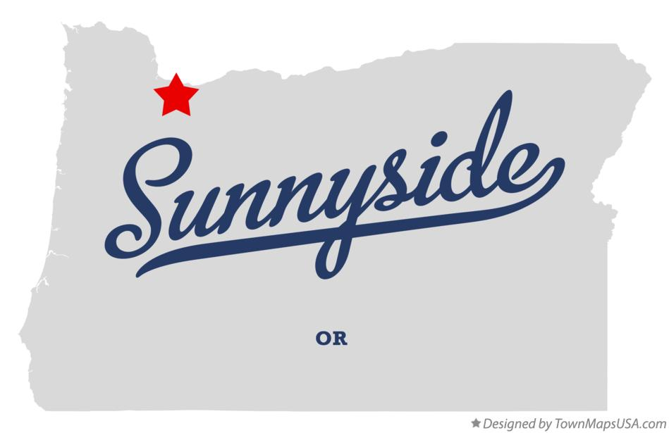 Map of Sunnyside Oregon OR