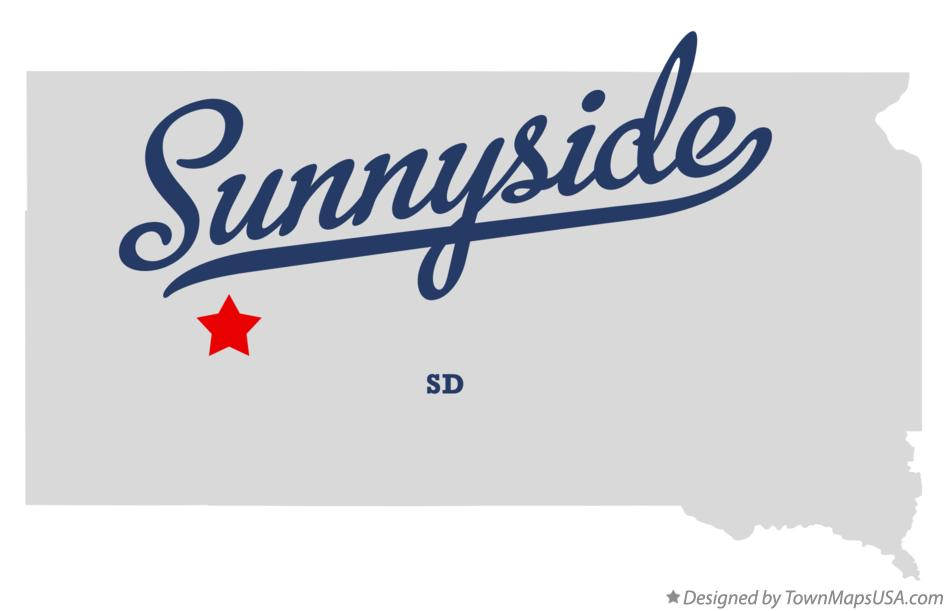Map of Sunnyside South Dakota SD