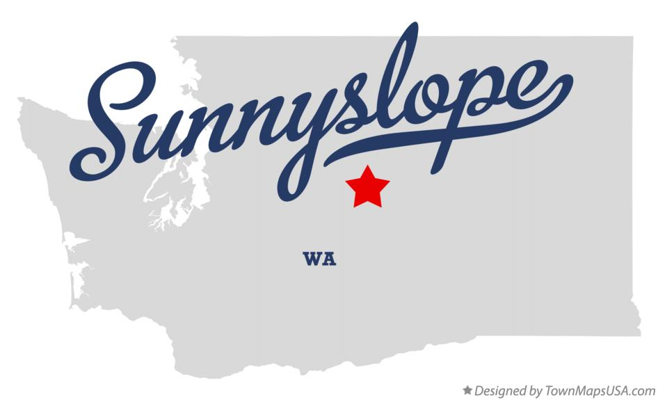 Map of Sunnyslope Washington WA