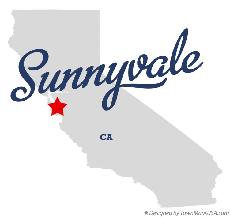 Map of Sunnyvale, CA, California