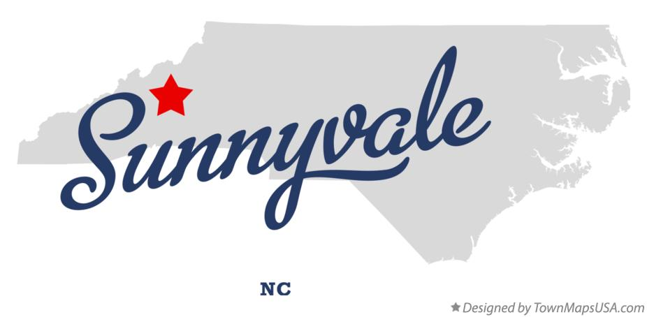 Map of Sunnyvale North Carolina NC