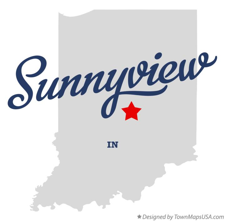 Map of Sunnyview Indiana IN