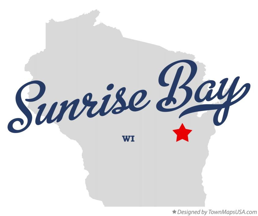 Map of Sunrise Bay Wisconsin WI