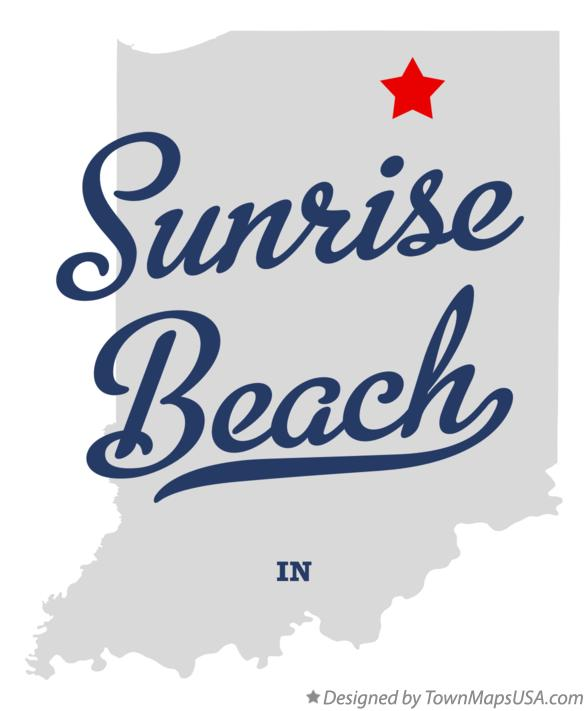 Map of Sunrise Beach Indiana IN