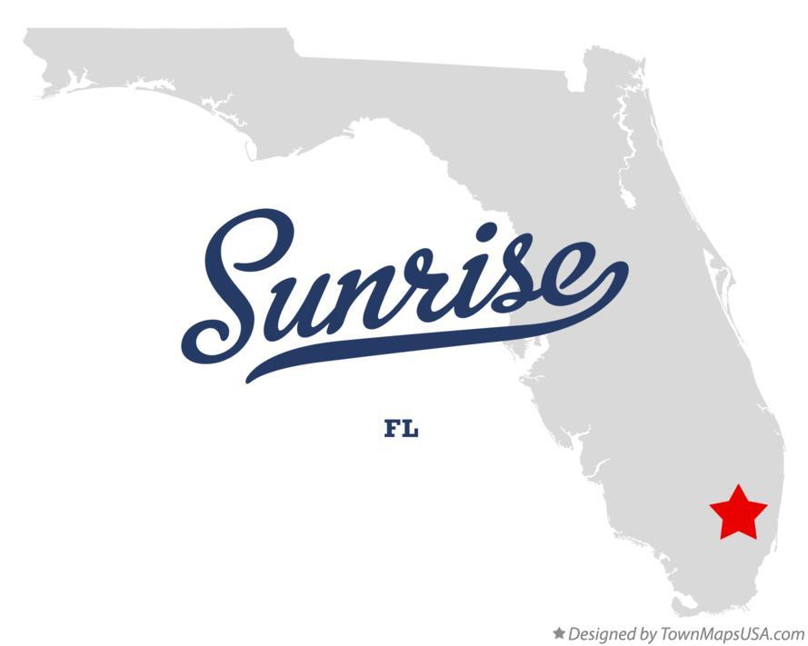 Sunrise Florida Map.Map Of Sunrise Fl Florida