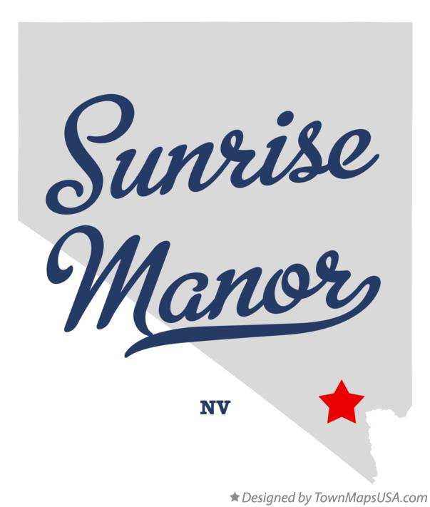 Map of Sunrise Manor NV Nevada