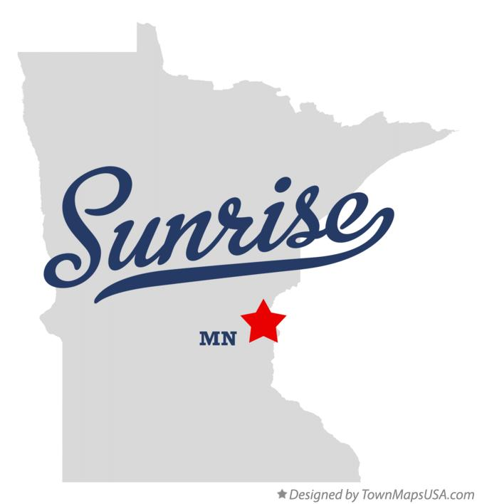 Map of Sunrise Minnesota MN