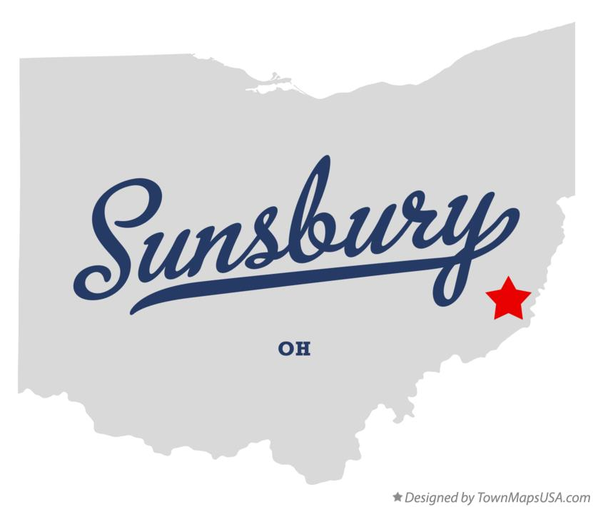Map of Sunsbury Ohio OH