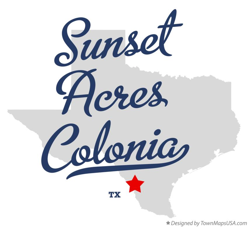 Map of Sunset Acres Colonia Texas TX