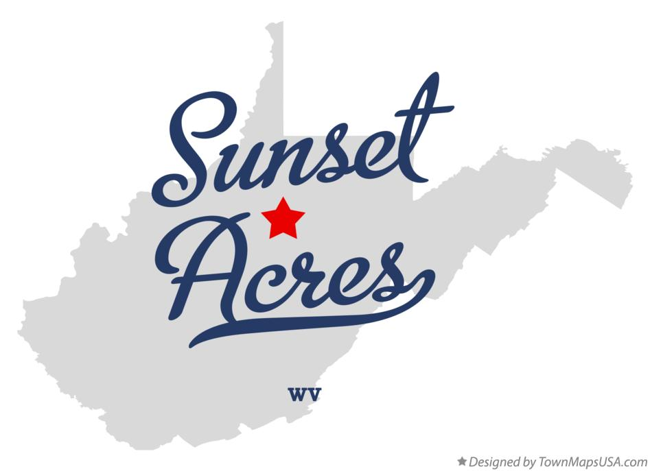 Map of Sunset Acres West Virginia WV