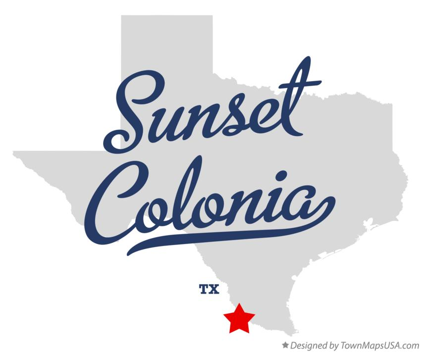 Map of Sunset Colonia Texas TX
