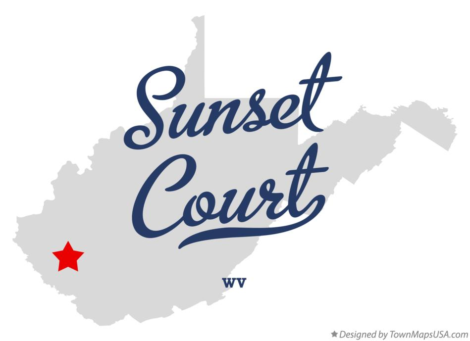 Map of Sunset Court West Virginia WV
