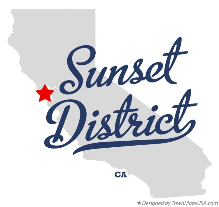 Map of Sunset District California CA