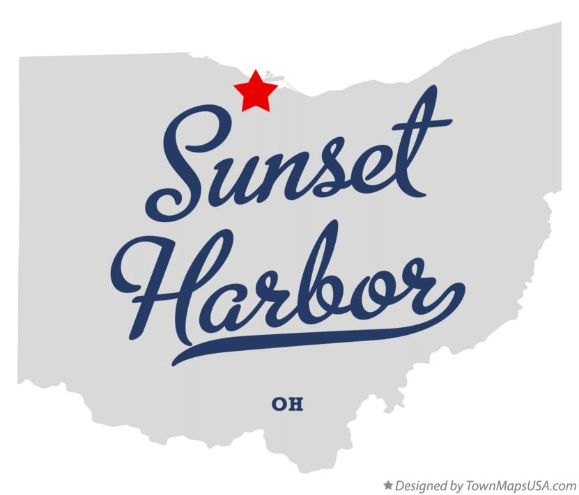 Map of Sunset Harbor Ohio OH
