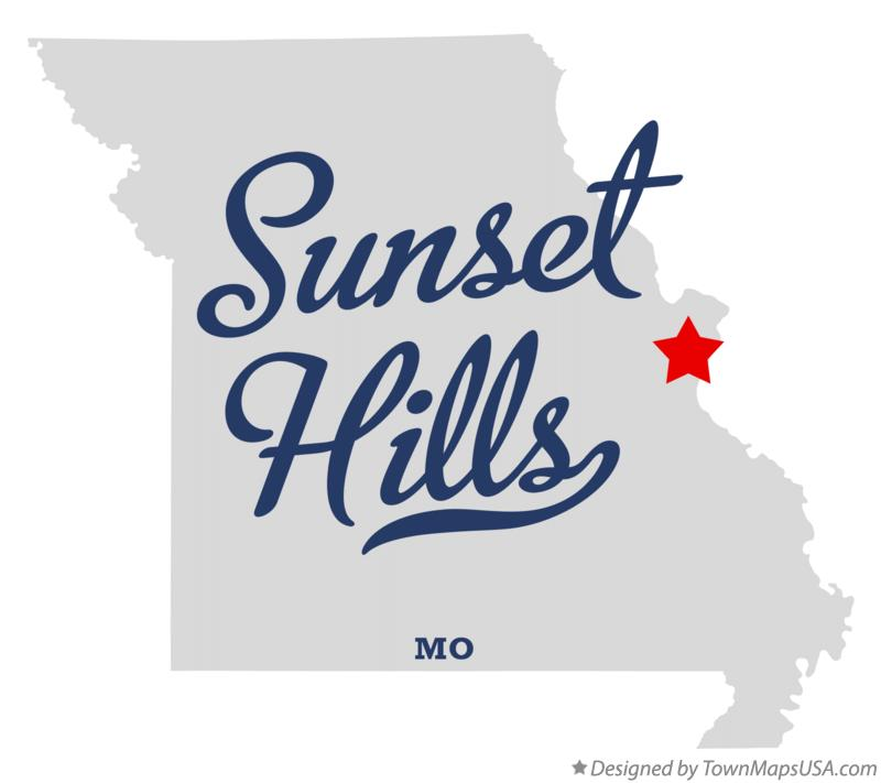 Map of Sunset Hills Missouri MO