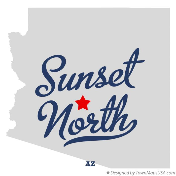 Map of Sunset North Arizona AZ