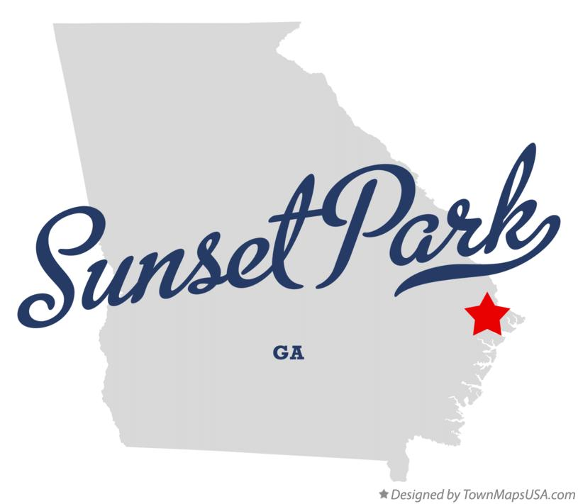 Map of Sunset Park Georgia GA