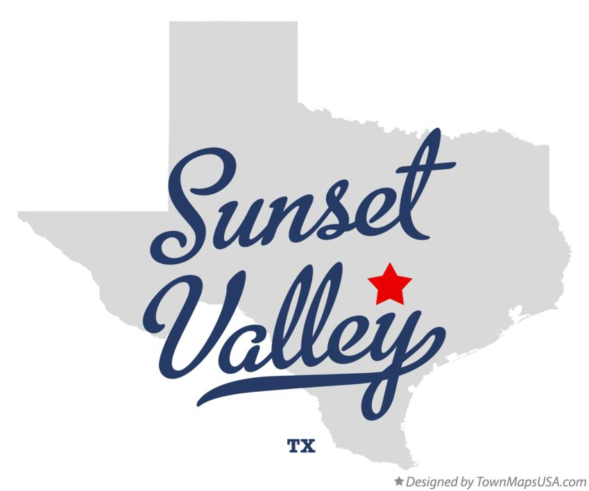 Map of Sunset Valley Texas TX