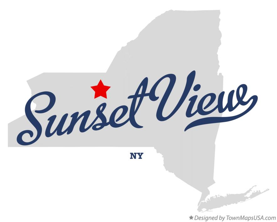 Map of Sunset View New York NY