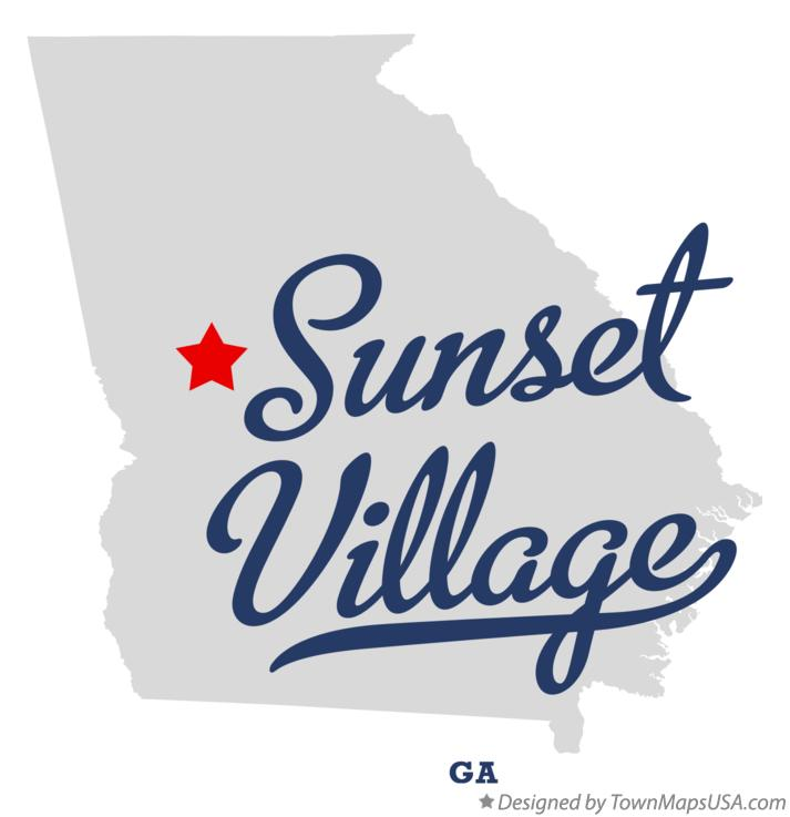 Map of Sunset Village Georgia GA