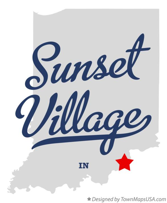Map of Sunset Village Indiana IN
